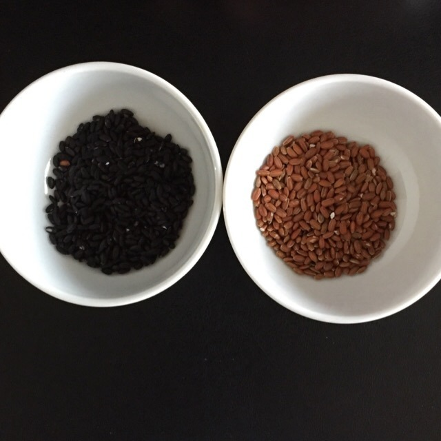 古代米「赤米」「黒米」。雑穀米も美味しいよ! お試しあれ~♪