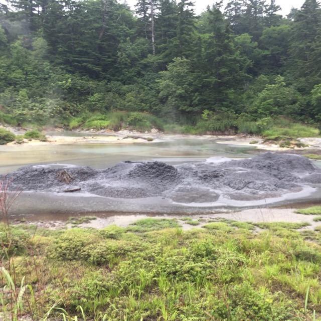 【後生掛自然研究路】 日本一の泥火山を見て、黒たまごを食べる