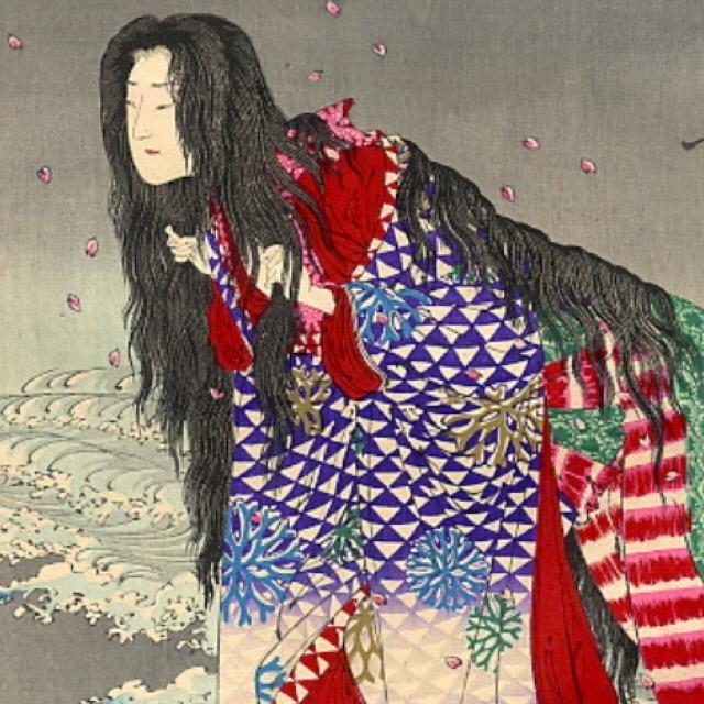 【道成寺】 裏切られた女が男を追いかけ焼き殺す怖い話「安珍清姫の物語」で有名。髪長姫物語もある