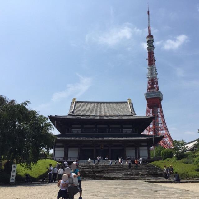 【芝の増上寺(ぞうじょうじ)】 東京タワーの足元にある、徳川家の菩提寺。徳川将軍家墓所と、宝物館