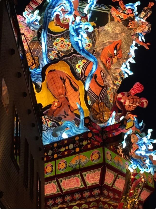 【五所川原立佞武多祭り②】 とにかくデカくて首が痛い! 吉幾三さんの生唄を聴いた!