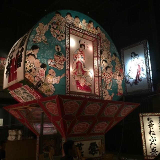 【津軽藩ねぷた村】 年中、弘前ねぷたが見れる。「喧嘩ねぷた」がコワすぎ!