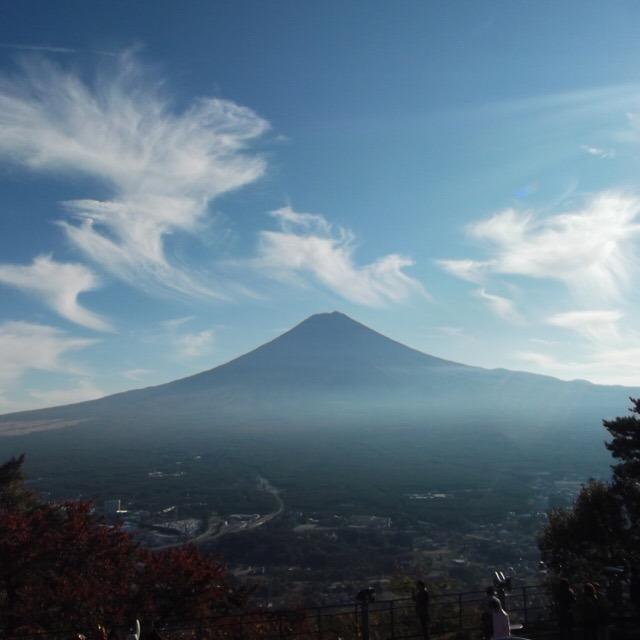 【河口湖遊覧船 アンソレイユ号、天上山公園カチカチ山ロープウェイ】 絶景~~~! 富士山が良く見える!