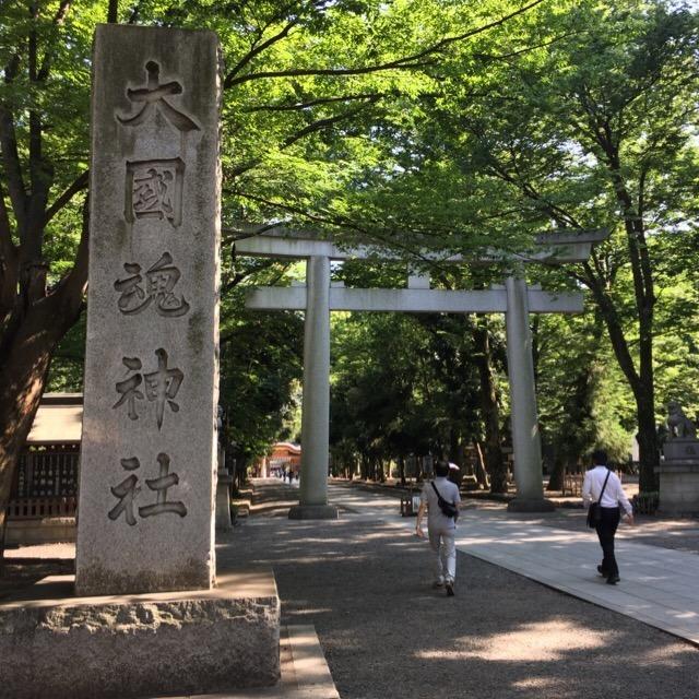 【大國魂神社】 1900年以上の歴史がある。樹齢1000年の銀杏と、武蔵国府跡について