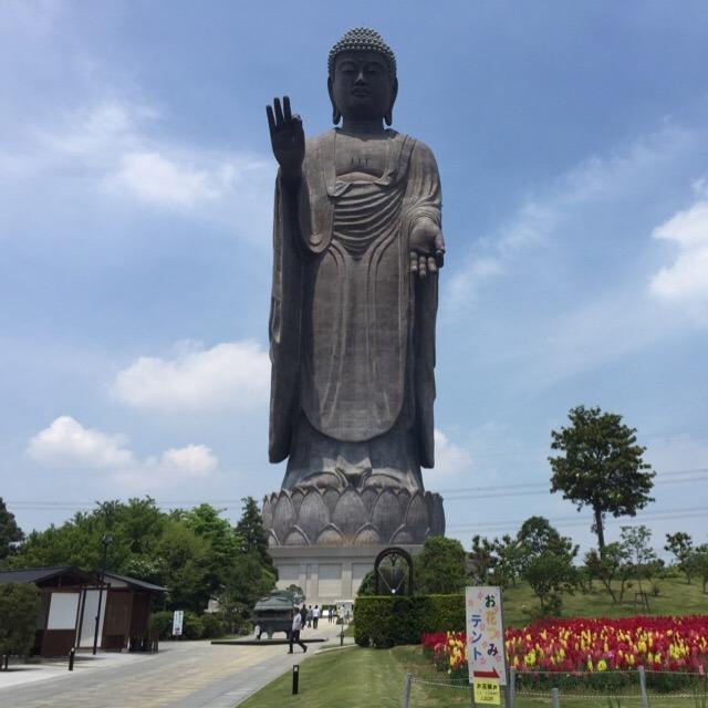 【牛久大仏】 青銅製のギネス大仏。奈良の大仏が掌に乗る!