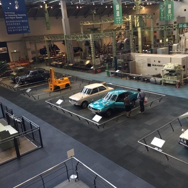 【トヨタ産業技術記念館】 テクノランドと体験コーナー。豊田佐吉、豊田喜一郎親子の物語