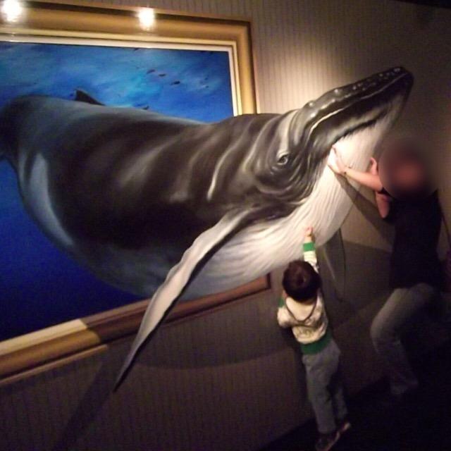 【高尾山トリックアート美術館】 面白い写真がたくさん撮れるところ