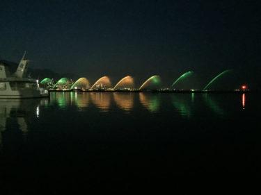 【びわこ花噴水】 世界最大級の無料噴水ショー。どこから見る? 琵琶湖大津港の駐車場について