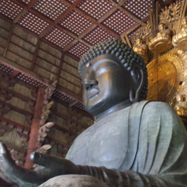 【奈良公園③ 東大寺大仏殿(奈良の大仏)その2】 仏教で国をまとめようとした聖武天皇と、娘の孝謙天皇。親子で出家した天皇