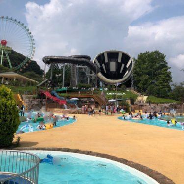 【東京サマーランド】 屋内プールで春も秋も遊べる。アドベンチャーラグーン(屋外プール)は9月末まで!